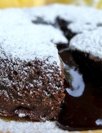 Receita de Bolo de Chocolate de Lava