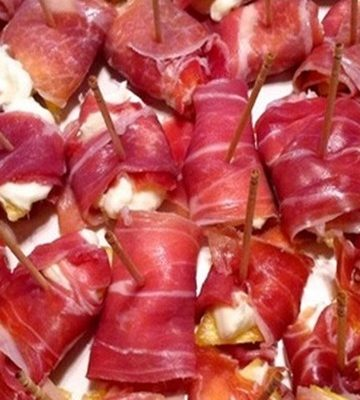 Receita de Aperitivo de Parma Abacaxi e Creme de Ricota