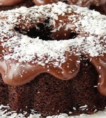 Receita de Bolinhos de Chocolate e Coco