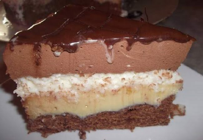 Receita de Bolo Tentação de Chocolate com Coco