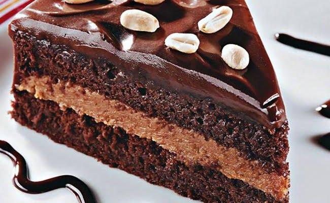 Receita de Bolo de amendoim e chocolate