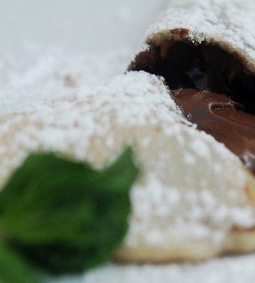 Receita de Calzone de Nutella com mascarpone