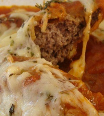 Receita de Carne Moída a Parmigiana