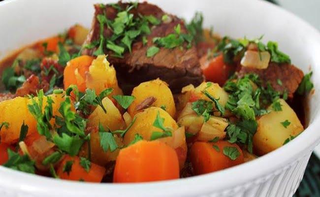 Receita de Carne com Legumes