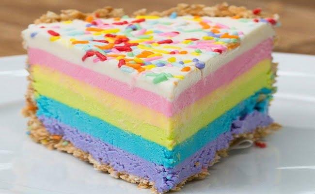 Cheesecake arco-íris