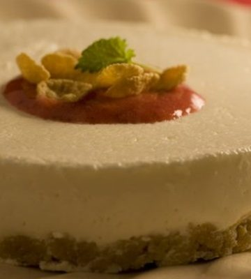 Receita de Cheesecake com calda de morango light