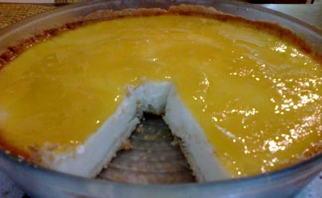 Receita de Cheesecake diet de manga