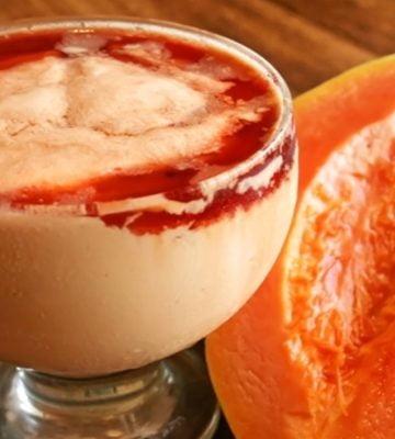 Receita de Creme de Papaya com Groselha