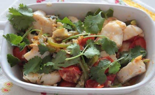 Receita de Cubinhos de Peixe com Legumes e Gengibre