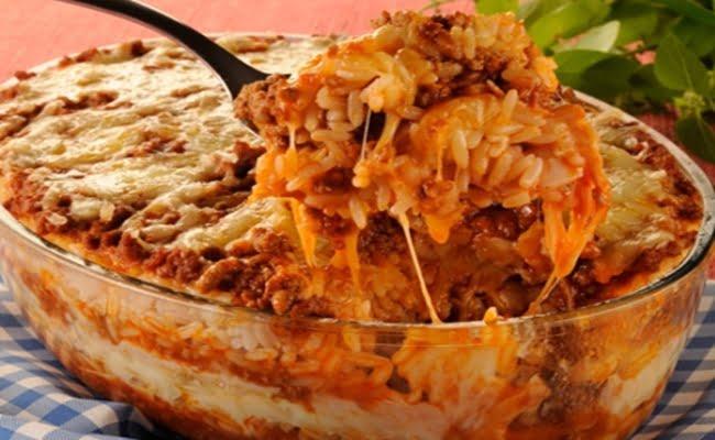 Receita de Lasanha de arroz light