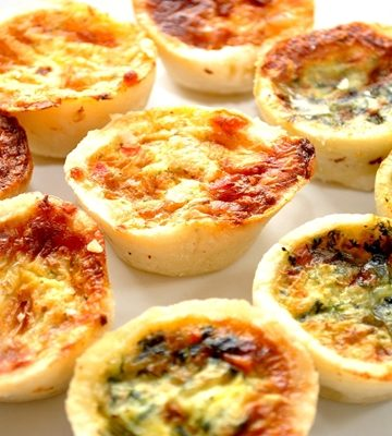 Receita de Mini Quiches