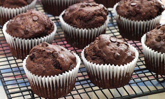 Receita de Muffin de Chocolate e Banana