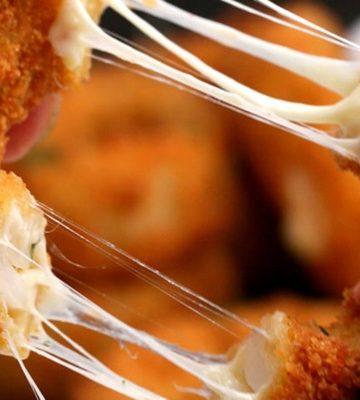 Receita de Onion rings recheadas com queijo
