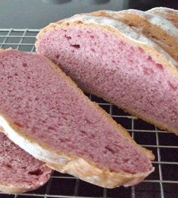 Receita de Pão de Batata doce roxa