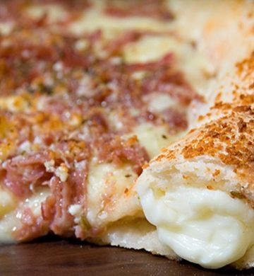 Receita de Pizza com Borda Recheada