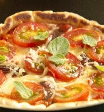 Receita de Pizza de Frigideira Pronta
