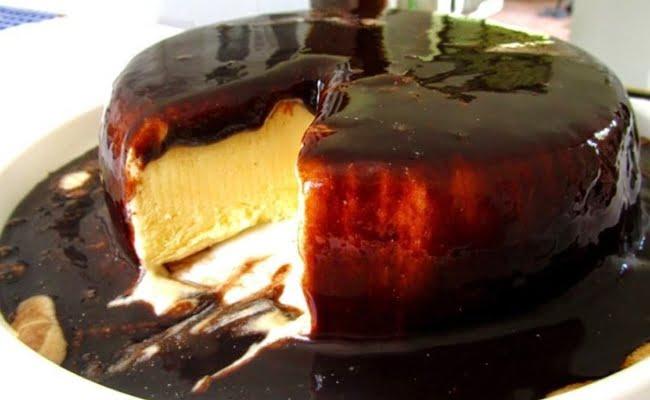Receita de Pudim de Leite Condensado e Chocolate