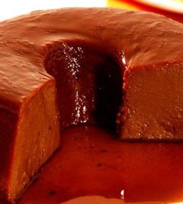 Receita de Pudim de chocolate cremoso