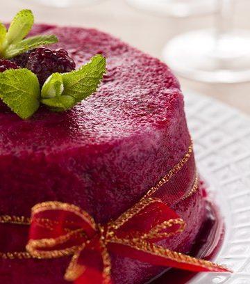 Receita de Pudim de Frutas Vermelhas