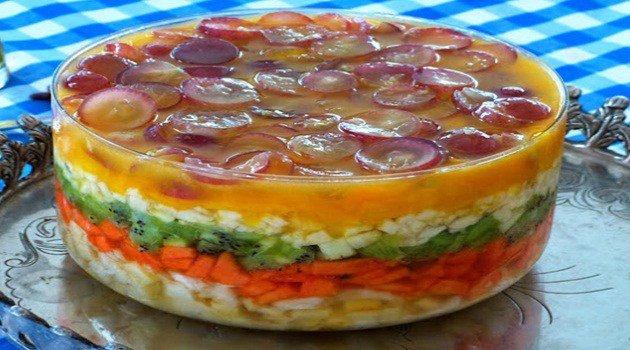 Receita de Saladas de Frutas em Camadas