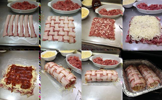 Rocambole de Carne de Porco com Bacon passos