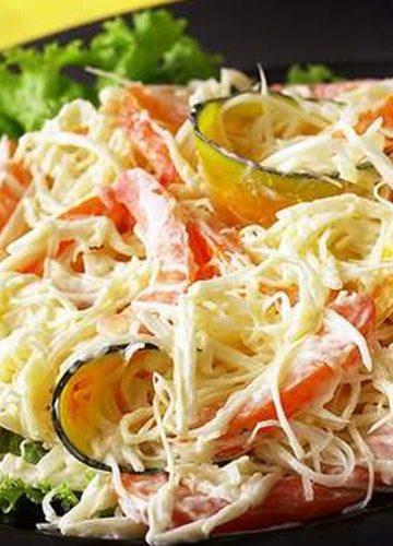 Receita de Salada de Palmito Desfiado