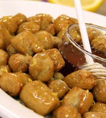 Receita de Struffoli ou pingos de mel