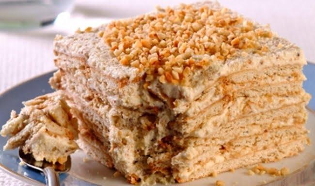 Receita de Torta Paulista Pavê de Paçoca