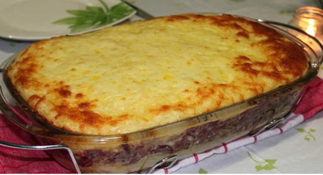 Você vai aprender como fazer Torta de Batata Doce com Carne de Sol