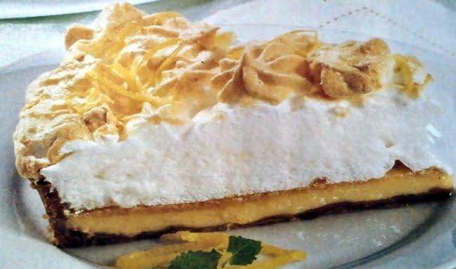 Receita de Torta de Limão com Merengue
