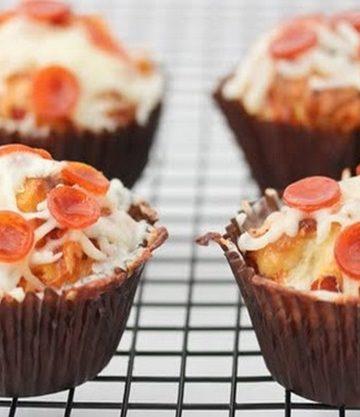 Receita de Cupcakes de Pizza