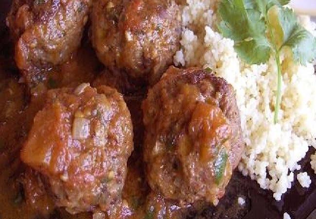 Receita de Almondegas de Kafta a Marroquino