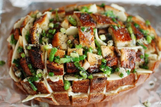 Pão Italiano Recheado com Queijo