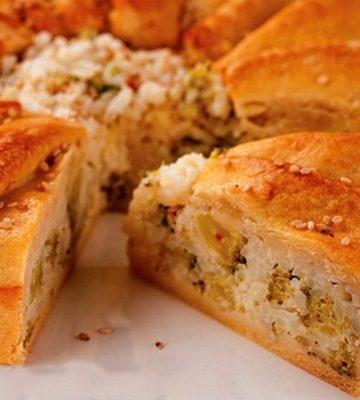 Receita de Torta de Arroz com Brócolis