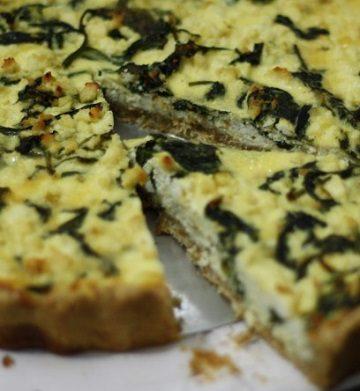 Receita de Torta Integral de Espinafre e Ricota