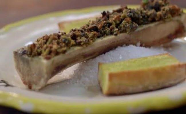 Receita de tutano com crosta de shitake